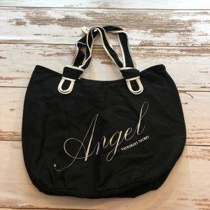 """Victoria Secret """"Angel"""" Black Silver Tote. NWT"""